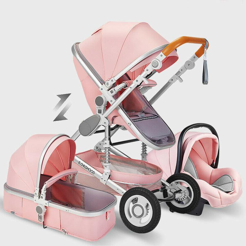 Baby Stroller 3 in 1 Newborn Infant Bassinet Travel System w