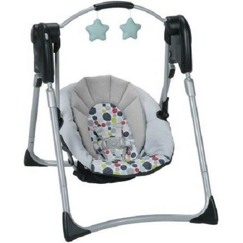 Baby Swing Bassinet Crib Bed Girl Kid Portable