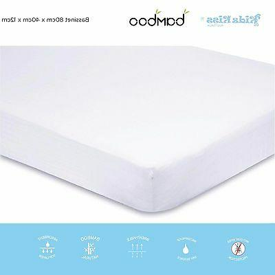 bamboo waterproof fitted mattress protector cover bassinet