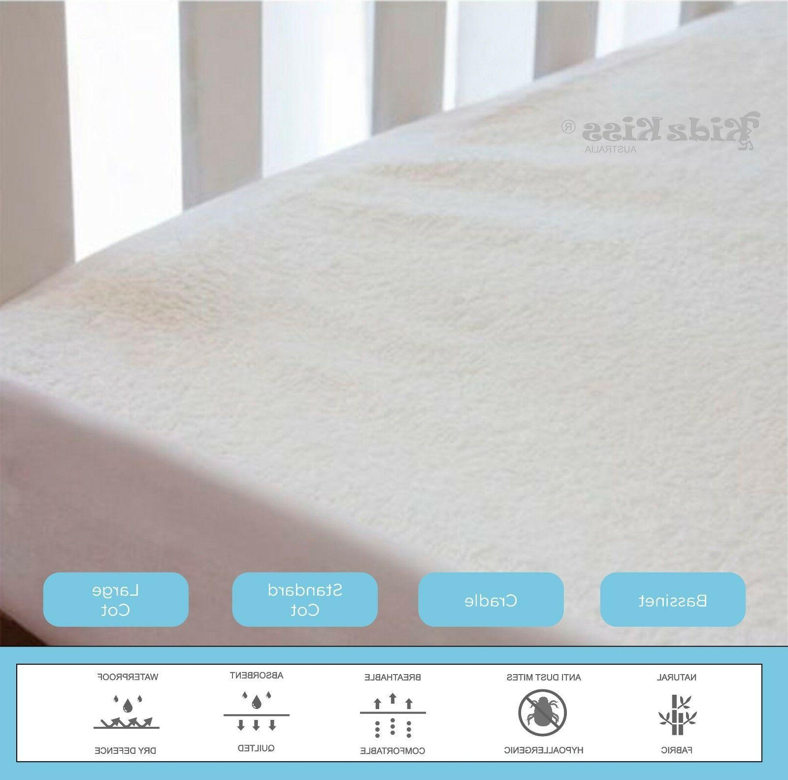 bamboo waterproof fitted mattress protector cover set