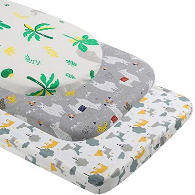 Bassinet Fitted Sheet 3 for Boys/Girls - Soft Jersey Cotton