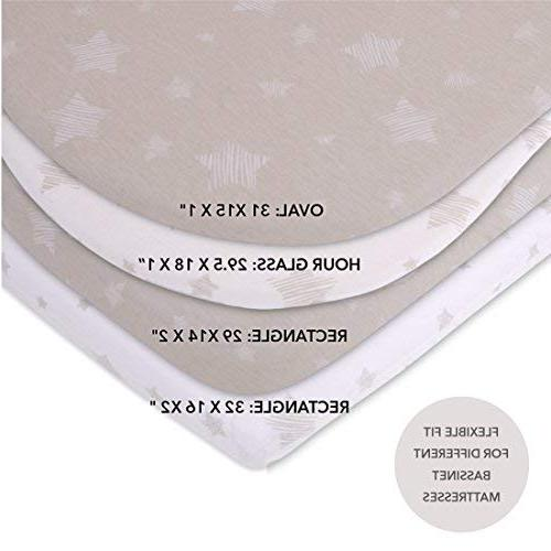 Bassinet Set Pack 100% Jersey for Baby Baby Boy by & Co. Drawn Ely's & Co.