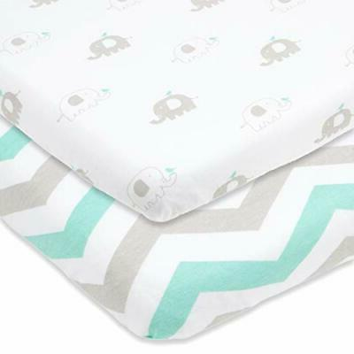 bassinet sheets set 2 pack for boy