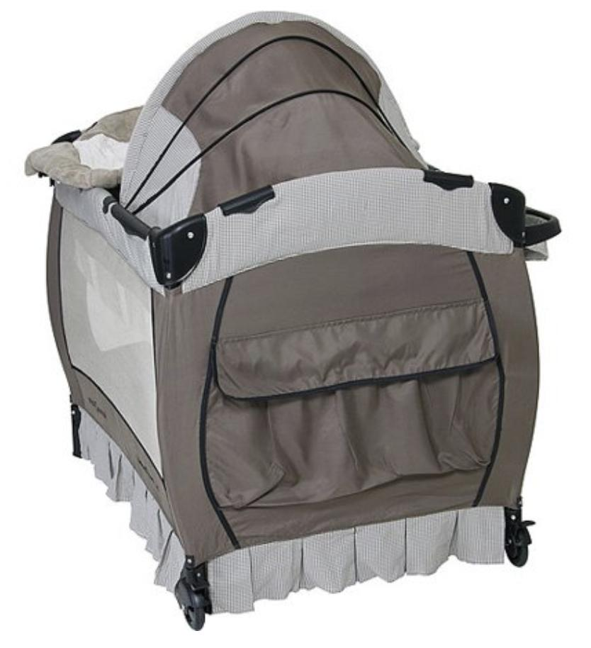Crib and Changer Pack n Sound Portable Baby Playpen Br