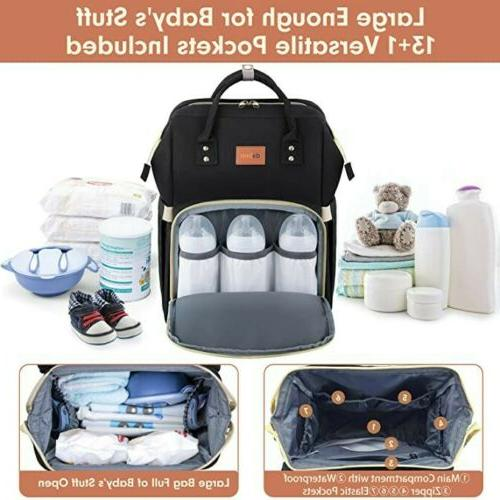 Diaper Bag Backpack and Bassinet for Baby Foldable Mattress
