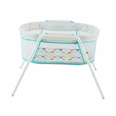 Fisher Price Stow 'n Go Baby Bassinet with Storage White
