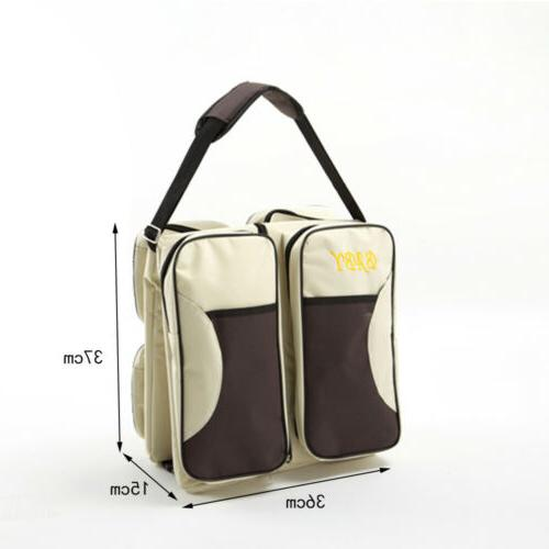 3 in 1 Diaper Tote Bag Carrycot Changing