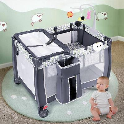 Crib and Changing Table Pack N Sound Playpen Baby Bassinet New