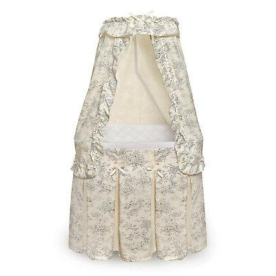 majesty bassinet with canopy black toile