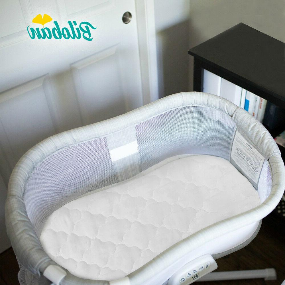 Oval Soft Bassinet Mattress Pad Cover Set Fits for Halo Bass
