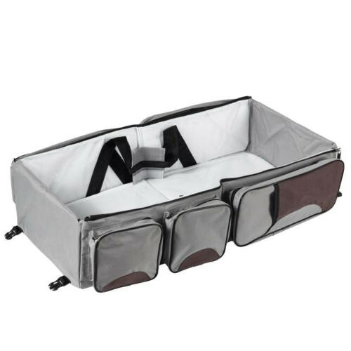 Portable 3in Tote Bag Bassinet Changing Carrycot Bed