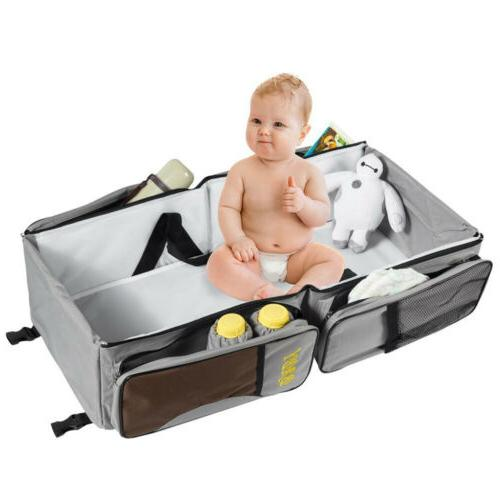 Portable 1 Diaper Tote Bag Bassinet Changing Bed