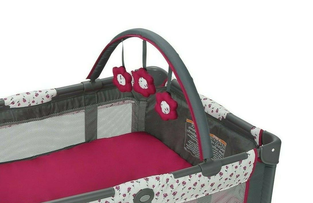Portable Graco Pack n Play Foldable w/Bassinet *Amory girl