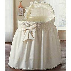 Baby Doll Precious White Bassinet Liner Skirt and Hood