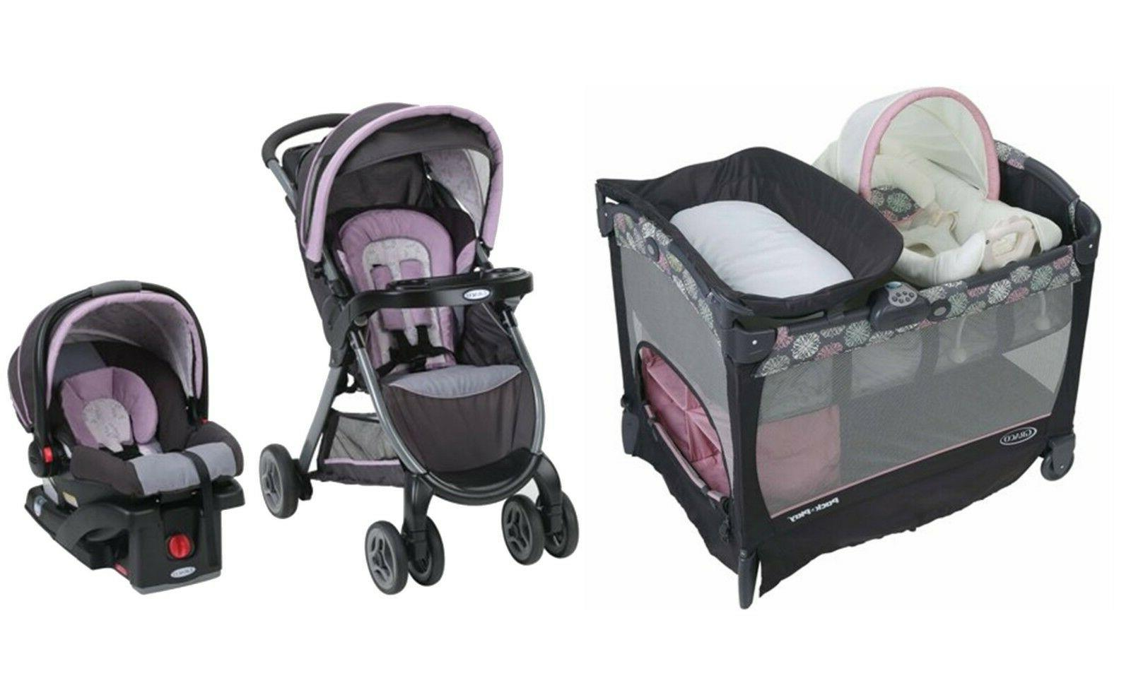 stroller with car seat fast fold travel