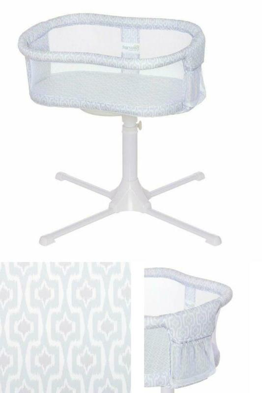 swivel sleeper bassinet essentia series ikat rotates