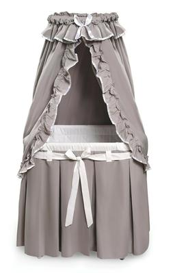 Majesty Baby Infant Bassinet w/Canopy & Gray/White Bedding F