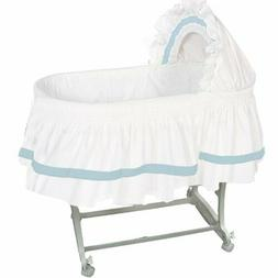 "aBaby Modern Style Short Bassinet Skirt, Blue, Small  28""x12"