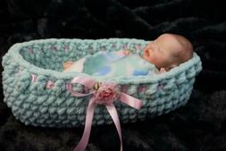 "MOSES BASKET Bassinet doll bed for your 12 to 14"" reborn or"