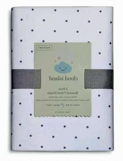NEW Fitted Bassinet Sheets Dots Dolid 2pk Cloud Island™ Gra