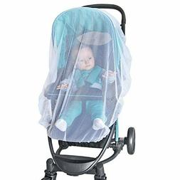 NEW White Mosquito Bug Net Mesh Cover Baby Child Bassinet fo