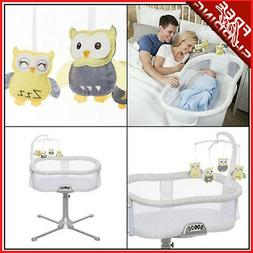 Owl Baby Bassinet Mobile New Born Infant Toddler Halo Plush