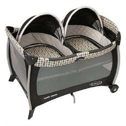 GRACO PACK 'N PLAY PLAYARD W/TWIN BASSINETS, VANCE *DISTRESS
