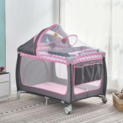 Portable Baby Travel Cot Crib Bassinet Bed Playpen Infants w