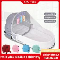 Portable Bassinet Baby Bed Travel Sun Shade Mosquito Net Inf