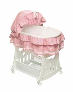 portable bassinet n cradle with toybox base