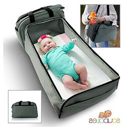 -Portable Bed Travel Infant Diaper Bag Bassinet And Crib- w/