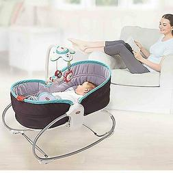 Portable Travel Baby Bed Rocker 3 In 1 Convertible Chair Bas