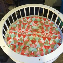 Round Bassinet Fitted Sheets Lots Of Fabrics To Choose From