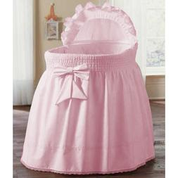 aBaby Smocked Bassinet Skirt, Pink, Large