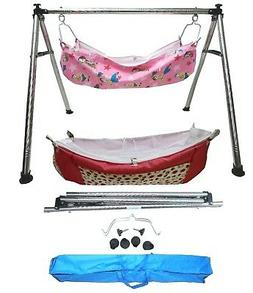 Smart Baby Products Steel Round Pipe Folding Baby Cradle wit