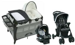 Stroller Baby Travel System Car Seat Playard Crib with Bassi