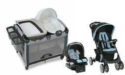 Stroller Baby Travel System with Car Seat Playard Crib Bassi