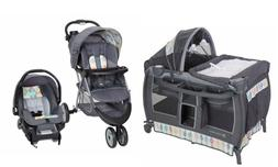 Baby Stroller Travel System with Car Seat Playard Bassinet C