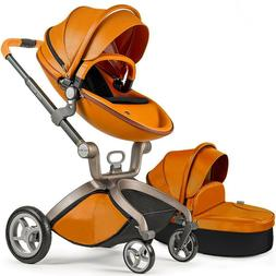 Hot Mom Stroller Travel System Reversible Baby Carriage w/ B