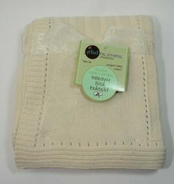 American Baby Company Sweater Knit Swaddle Blanket Natural O