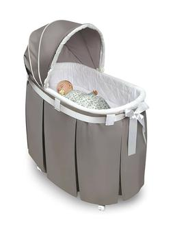 Badger Basket Wishes Oval Bassinet & Full Length Skirt- NEW,