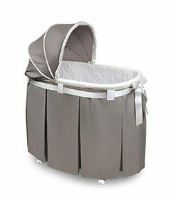 Wishes Oval Bassinet with Bedding by Badger Basket